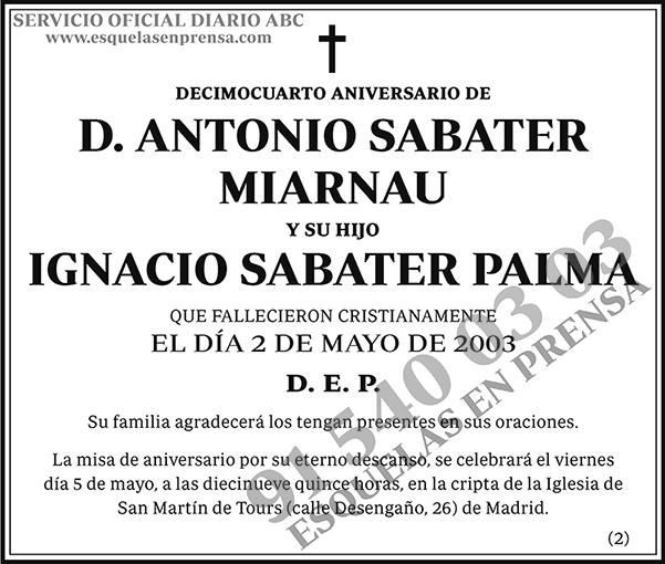 Antonio Sabater Miarnau